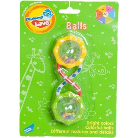 Развивающая игрушка погремушка Шарики. Mommy Love WD3311B