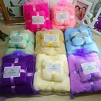 Подарочный набор полотенец из микрофибры баня + кухня разные цвета