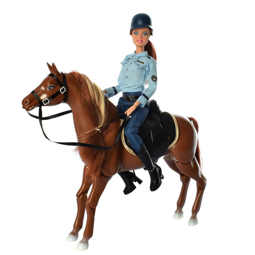 Кукла полицейская с лошадью Defa Lucy 8420 шарнирная