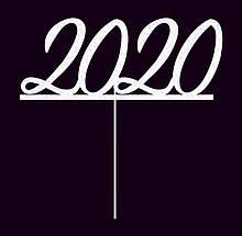 Топпер 2021, Топпер Новый год 2021 (надпись на палочке)