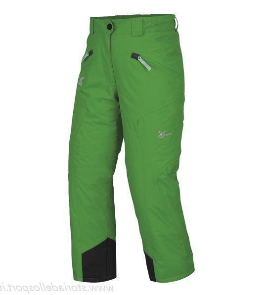 Дитячі гірськолижні штани Salewa Bering 152 зелені | сноубордні, лижні штани для хлопчиків і дівчаток