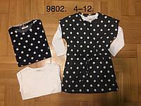 Комплект платье+кофта для девочек 4/12 лет