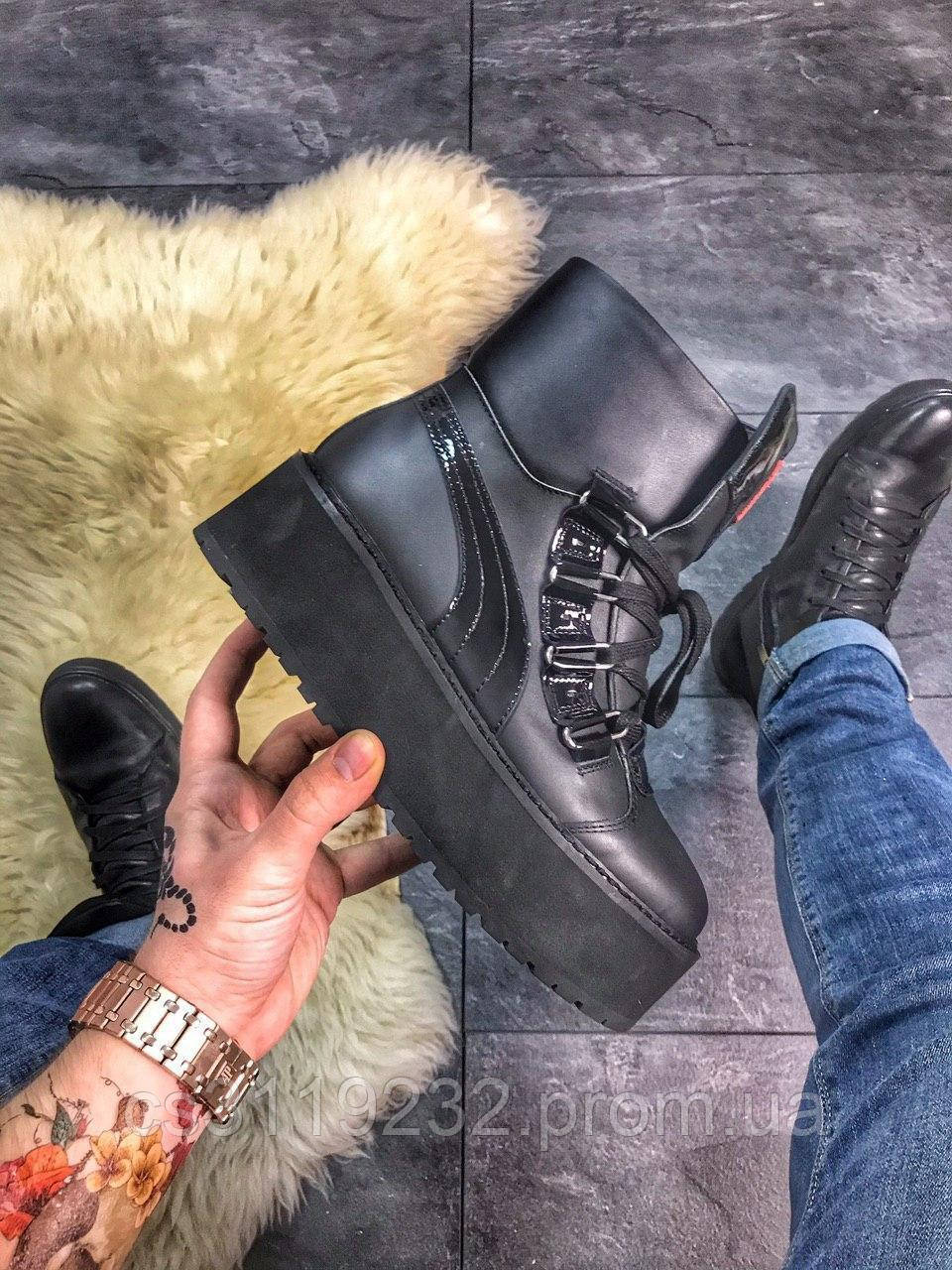 """Жіночі черевики Puma X Fenty by Rihanna Sneaker Boot """"Black"""" демісезонні (чорний)"""