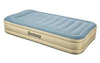 Надувная кровать Bestway 6900 со встроенным насосом Серо-голубой int69005, КОД: 109647