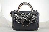 Черная женская маленькая сумка из эко кожи сумочка