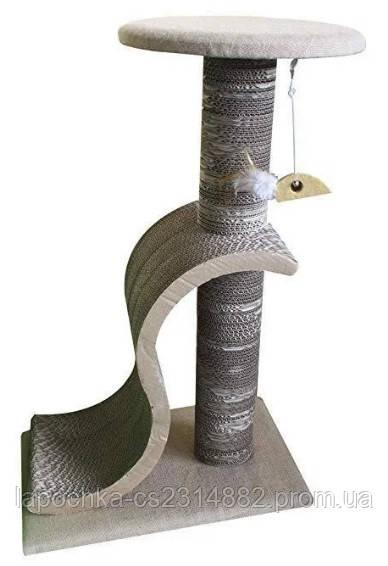 Когтеточка Croci Papercat Lounge для кошек, гофракартон, 50х33х79 см