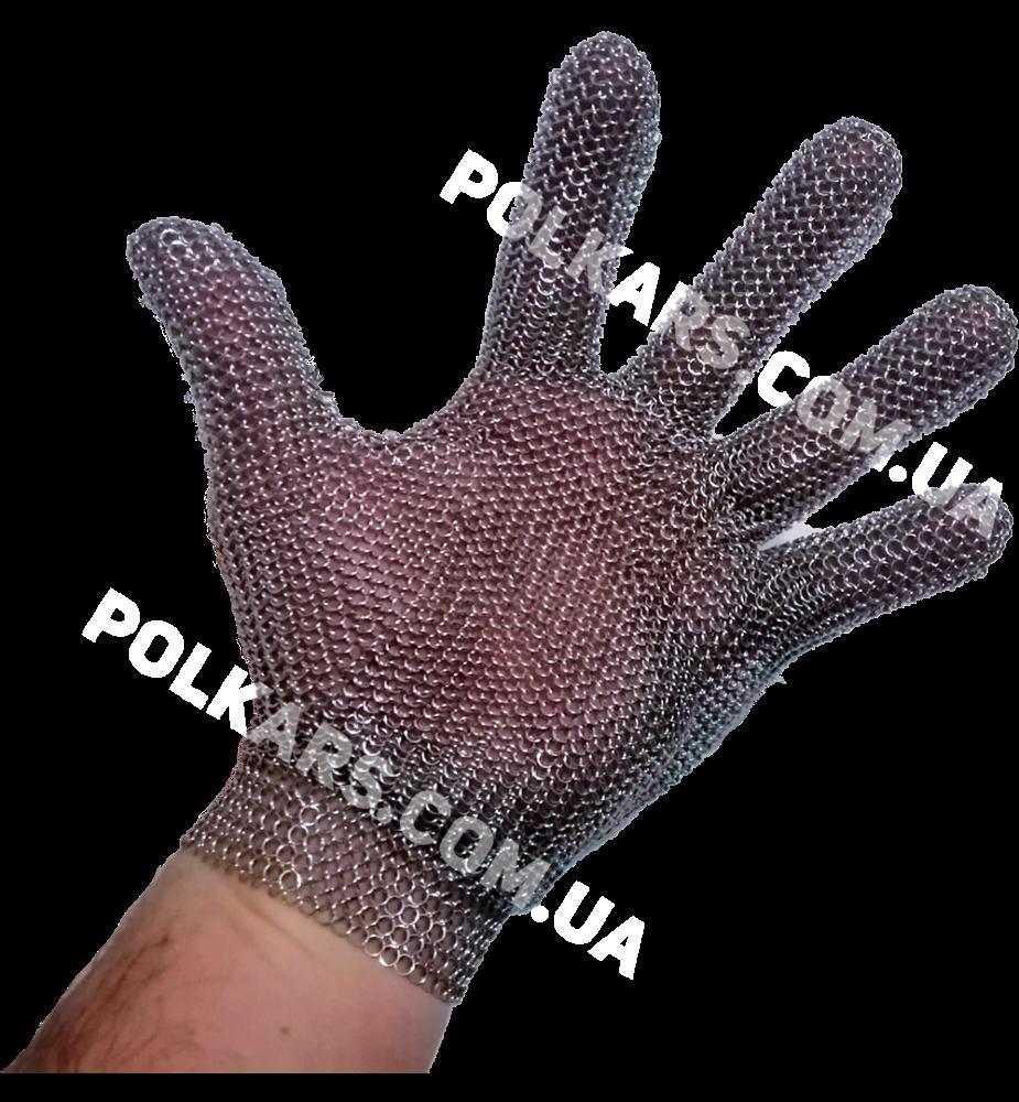 Кольчужные перчатки от порезов, кольчужная перчатка 5 палая на крючке, кольчужная перчатка без отворота, M