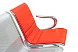 Металева 3-місна секція / Секційні крісла / Лавка / Багатомісна секція для зон очікування, фото 4