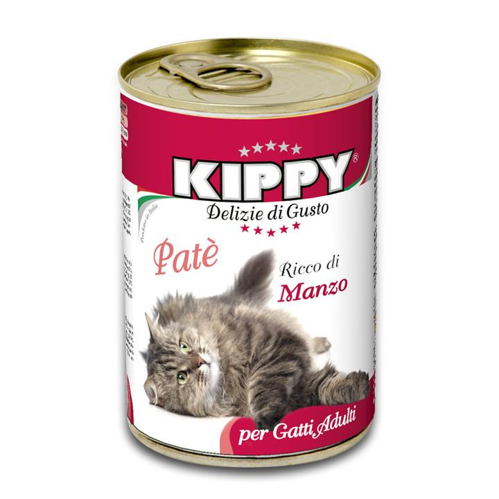 Вологий корм для кішок Kippy з яловичиною 400 г