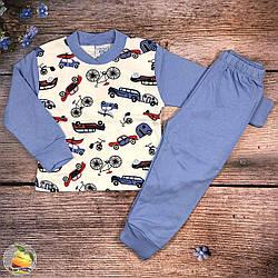 Пижама с микро начёсом для маленького мальчика Рост: 86,92,98,104 см (9367)