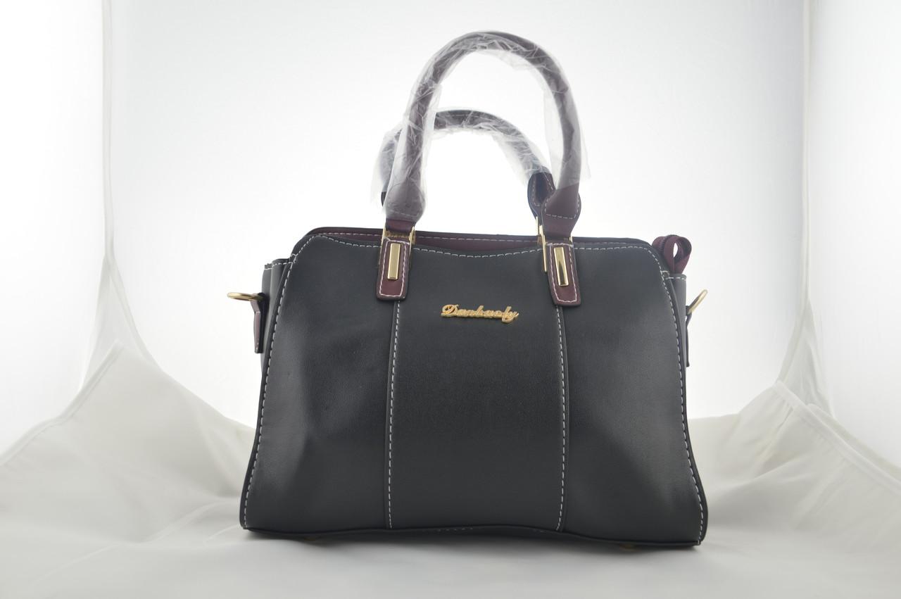 Женская черная сумка эко кожа