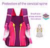 Рюкзак школьный ZUOK для девочек каркасный с ортопедической спинкой розовый, фото 5