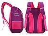 Рюкзак школьный ZUOK для девочек каркасный с ортопедической спинкой розовый, фото 3