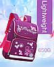 Рюкзак школьный ZUOK для девочек каркасный с ортопедической спинкой розовый, фото 4