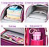 Рюкзак школьный ZUOK для девочек каркасный с ортопедической спинкой розовый, фото 6