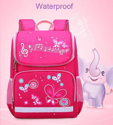 Рюкзак школьный ZUOK для девочек каркасный с ортопедической спинкой розовый, фото 2