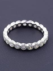 Кольца с серебряным покрытием (родий)