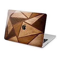 Чехол пластиковый для Apple MacBook (Деревянные треугольники) модели Air Pro Retina 11 12 13 15 2015 2016 2017 2018 эпл макбук эйр про ретина case