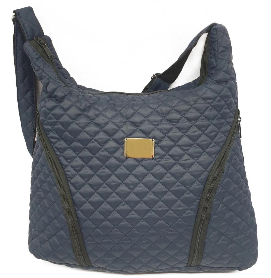 Стеганая зимняя женская сумка синяя BR-S 022