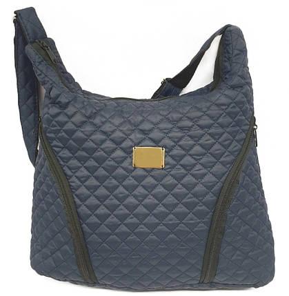 Стеганая зимняя женская сумка синяя BR-S 022, фото 2