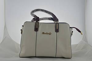 Женская бежавая сумка из эко кожи сумочка