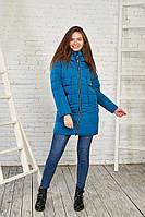 Женская зимняя куртка синего цвета, 27314 от Black&Red S