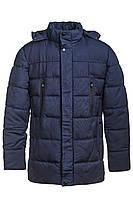 Теплая мужская куртка на зиму, синий цвет, 1608
