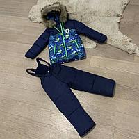 Зимний комбинезон на мальчика 3-6 лет, размеры 98-116