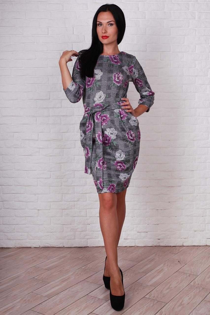 Платье 730-01 цвет малиновый