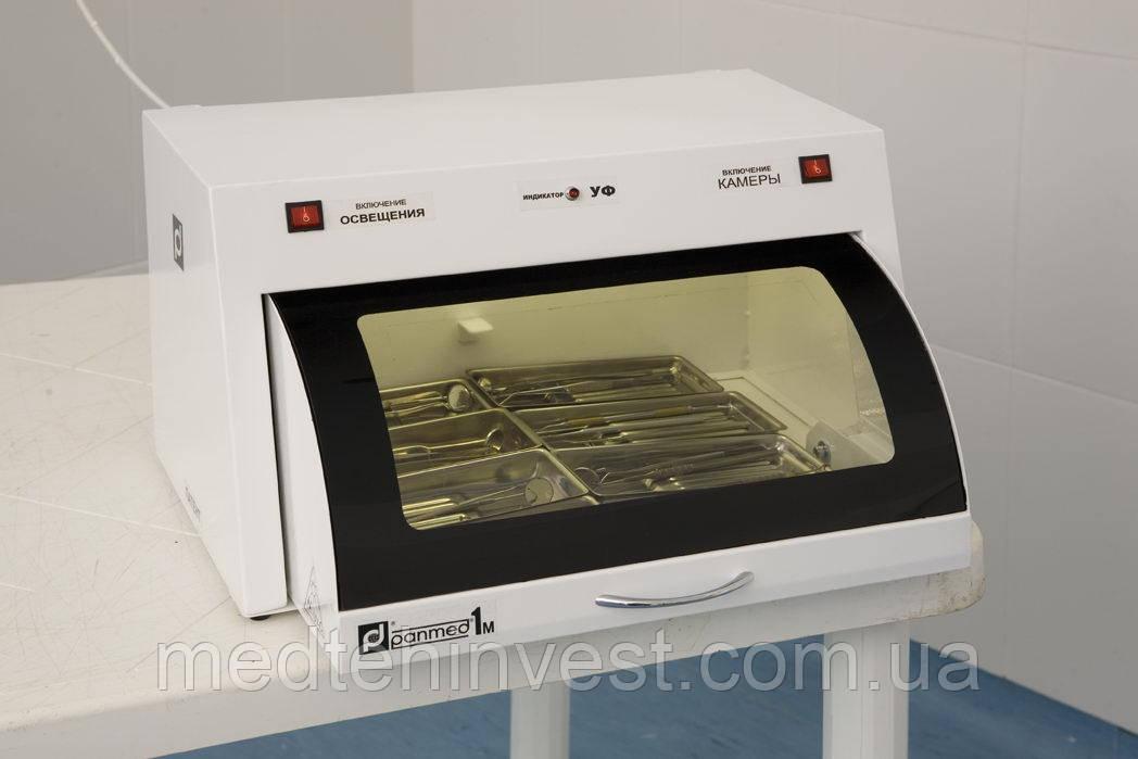 УФ-камера ПАНМЕД-1М (мала) зі скляною кришкою для зберігання стерильного інструменту