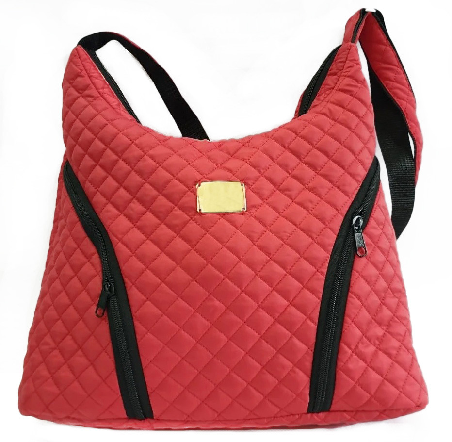 Стеганая зимняя женская сумка красная BR-S 1091825602
