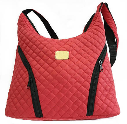 Стеганая зимняя женская сумка красная BR-S 1091825602, фото 2