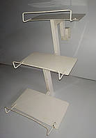 Металлические ступеньки на стеллаж три полки (полка 300х150мм) б/у