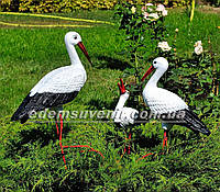 Садовая фигура Семья садовых аистов керамических №41