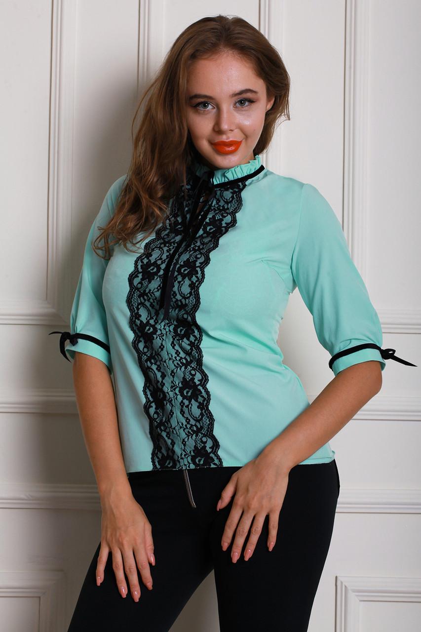 Блуза 600-02 цвет мятный