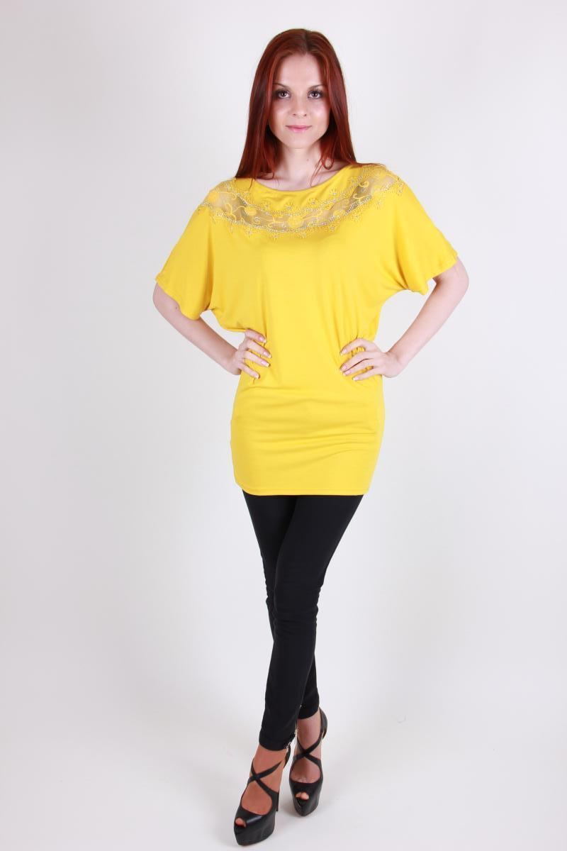 Туника женская YONG CHUN 3825 стразы (Желтый L)