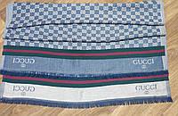 Шарф стильный джинсового цвета копия Gucci(Турция)