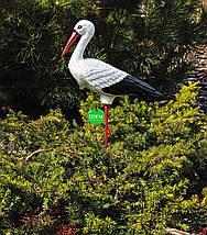 Садовая фигура Семья садовых аистов в гнезде №43 керамика, фото 2