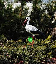 Садовая фигура Семья садовых аистов в гнезде №43 керамика, фото 3