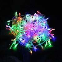 Гирлянда  Led 300 мультицветная 25м, светодиодная разноцветная гирлянда, гирлянда Микс, фото 1