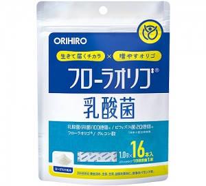 Orihiro молочнокислые и бифидобактерии с лактулозой Flora Oligo® и Глюконовой кислотой   16 саше на 16 дней