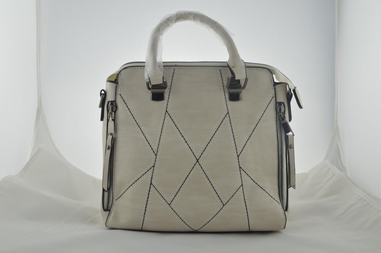Бежевая женская сумка из эко кожи