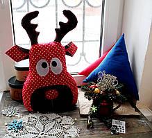 Подушка новогодняя Олень 42*30см