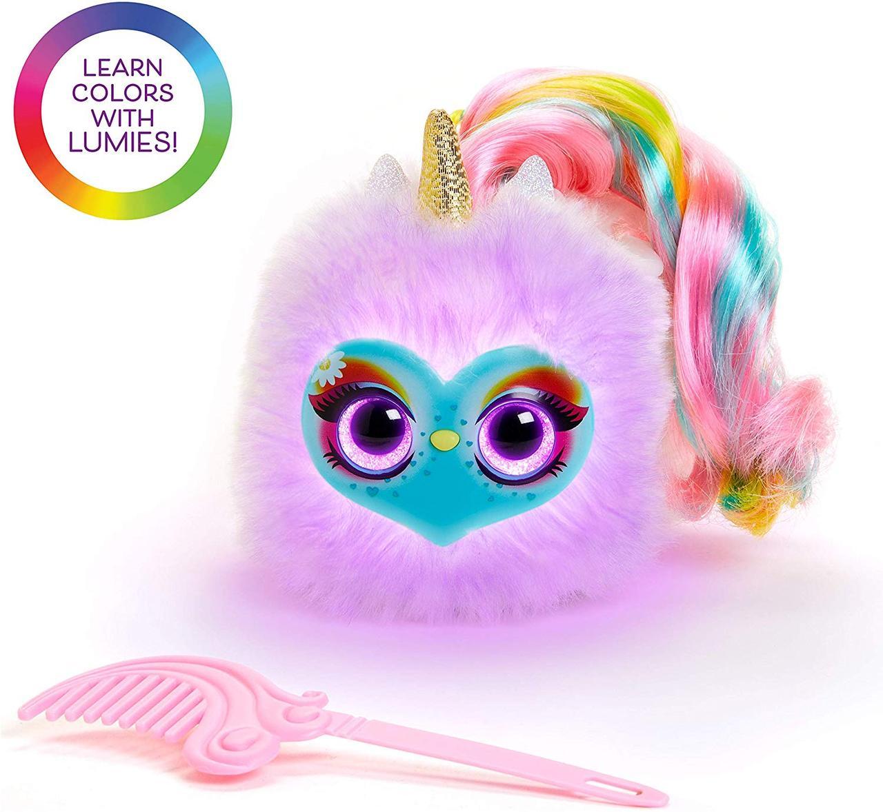Светящийся единорог - Спаркл  Интерактивная плюшевая игрушка Лумиес Помсис  POMSIES LUMIES