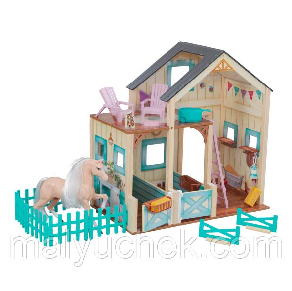 Ляльковий будиночок-конюшня KidKraft Sweet Meadow Horse Stable (63534)