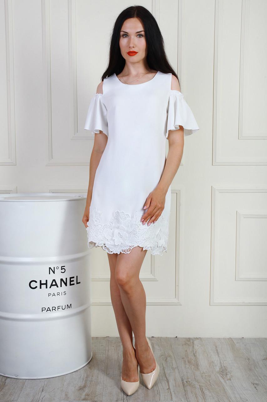 Платье 699-03 цвет молочный