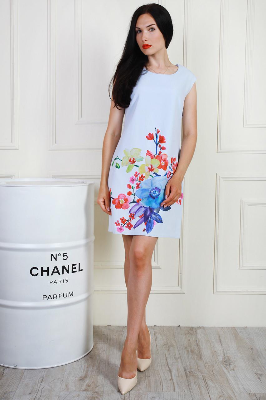 Платье 700-04 цвет светло голубой