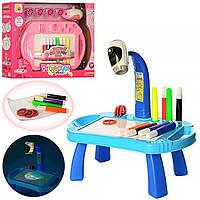Проектор для рисования22088-17AB2 цвета, столик, слайды, фломастеры, свет, на батарейках,