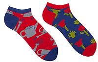 Короткие мужские носки Sammy Icon Jardin Short 40-46 Красно-синие 009549, КОД: 1214440