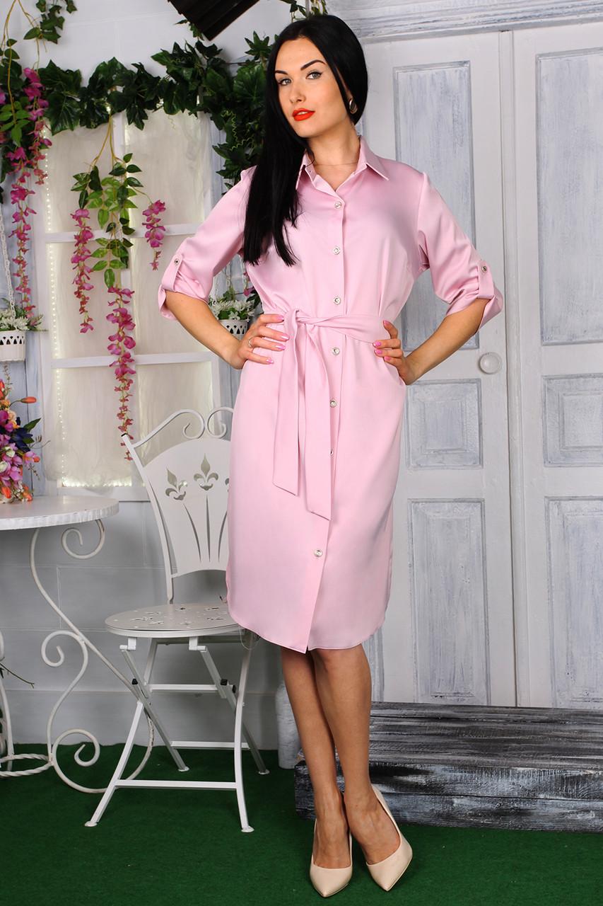 Платье 779-02 цвет пудра